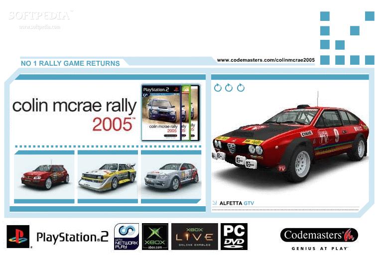 download colin mcrae rally 2005 screensaver 1 0. Black Bedroom Furniture Sets. Home Design Ideas