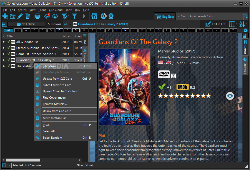 Download Collectorz.com Movie Collector 18.4.7