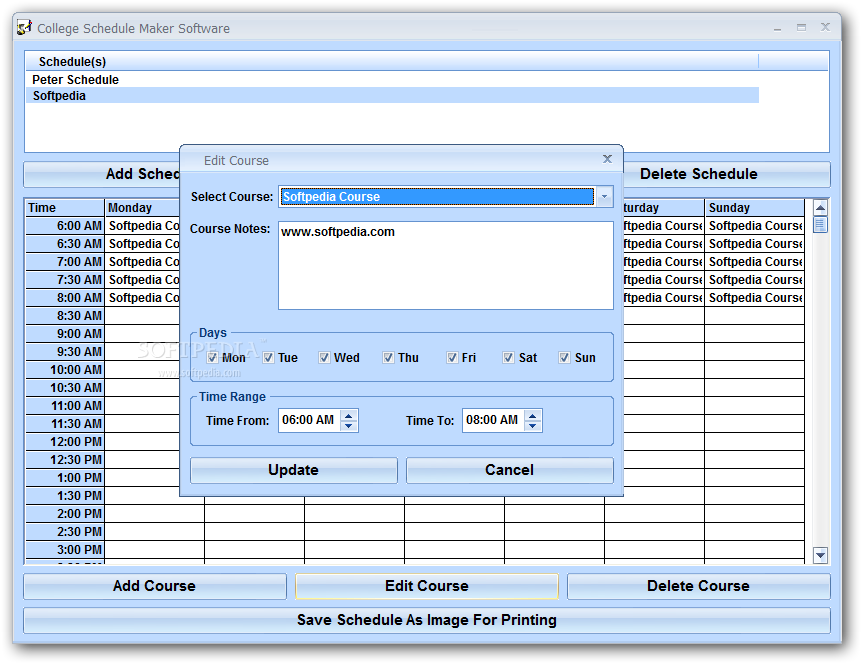 download college schedule maker software 7 0