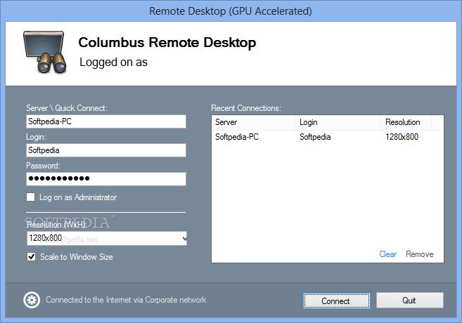 Download Columbus Remote Desktop Portable 2 0
