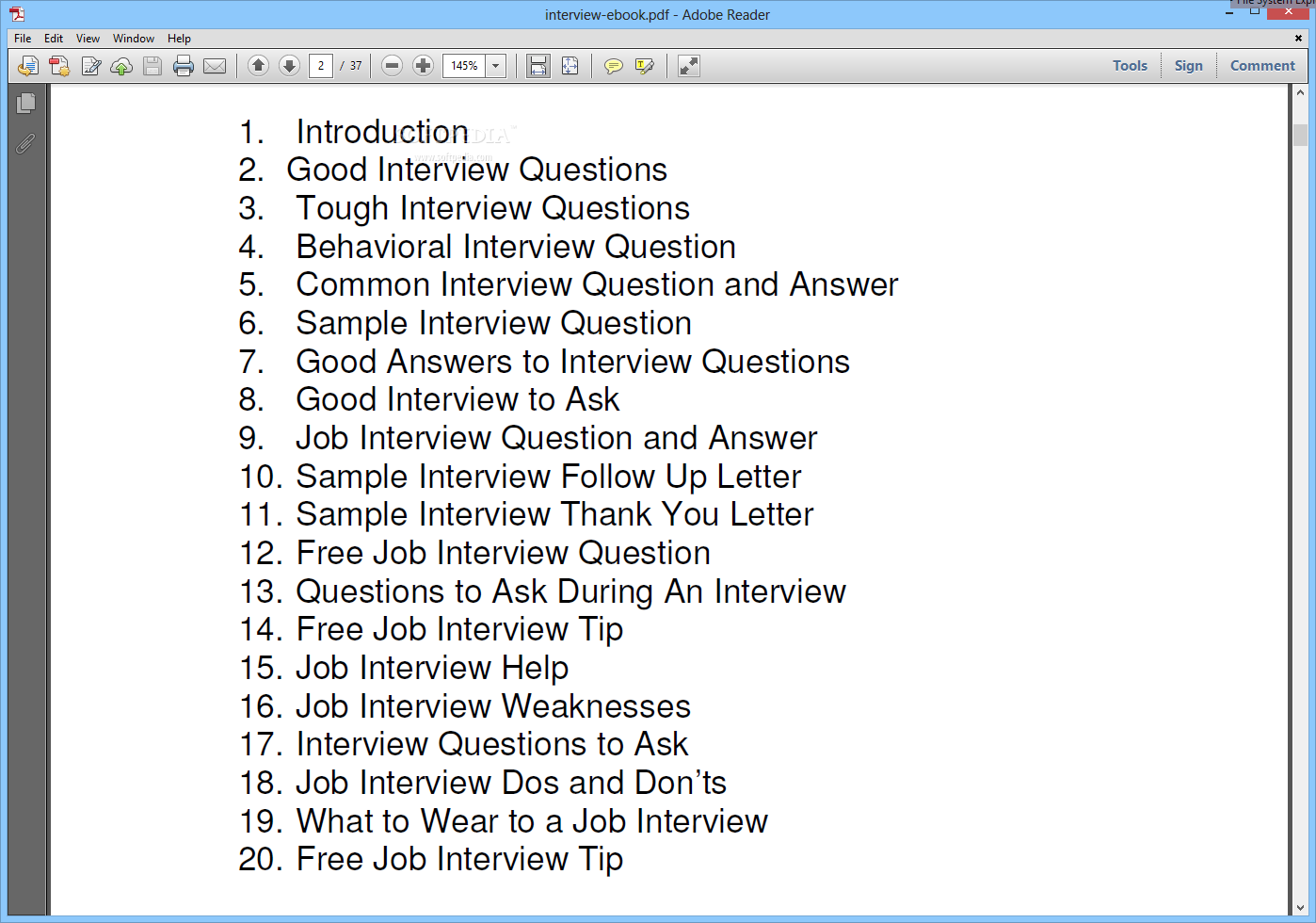 And job interview answers pdf questions