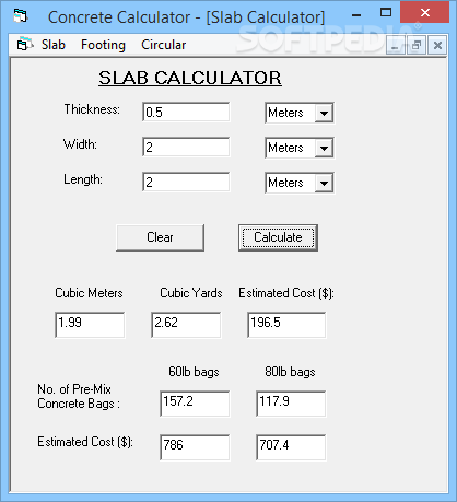 Concrete Calculator Download