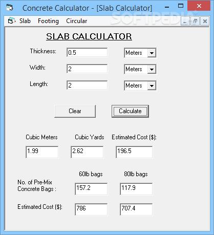 Bag concrete calculator the purpose of concrete calculator.