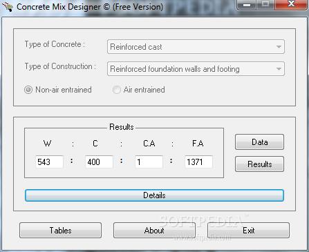 Download Concrete Mix Designer 1 0 0