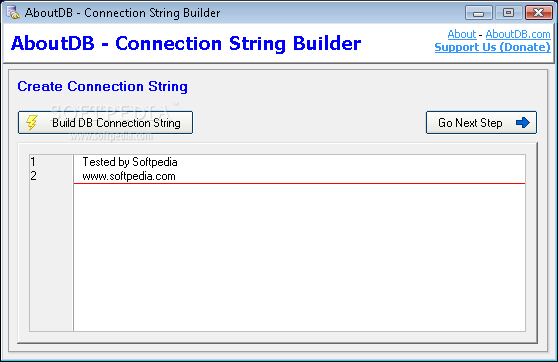 Download AboutDB Connection String Builder 1 0