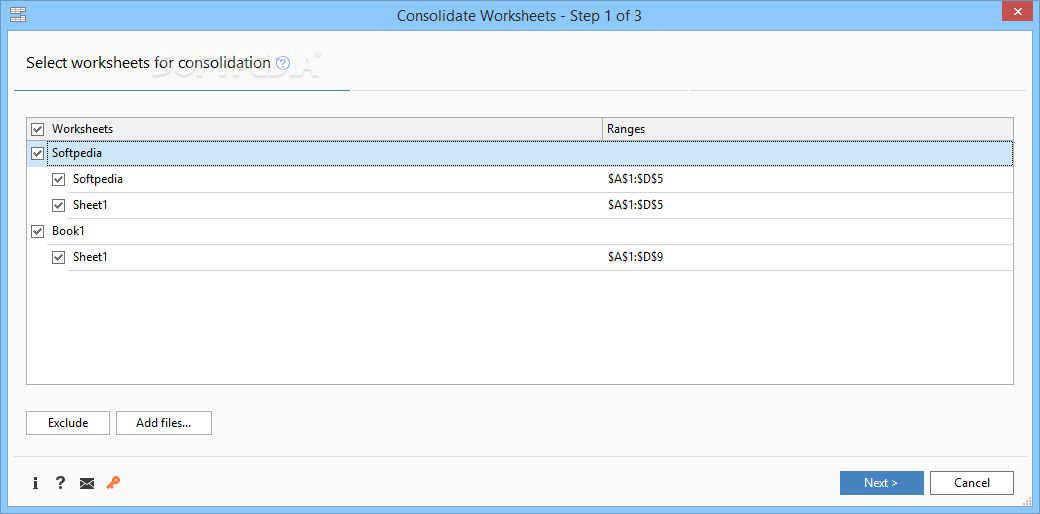 Consolidate Worksheets Wizard for Excel Download