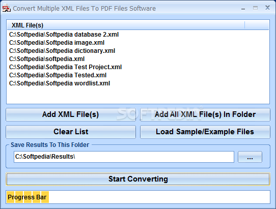 Download Convert Multiple XML Files To PDF Files Software 7 0