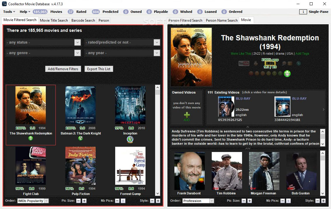 Portable Coollector Movie Database Download - Softpedia