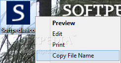 Copy File Name screenshot 1 - The application integrates within Windows context menu and allows you to easily copy the name of the selected file or folder