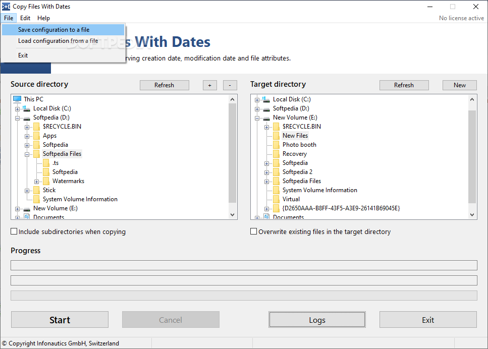 Copy Files With Dates screenshot #1