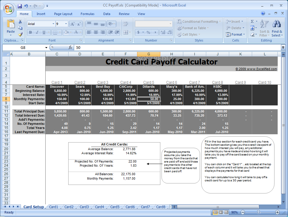 Credit card balance payoff calculator freeinstantcreditreportsus – Credit Card Payoff Calculator