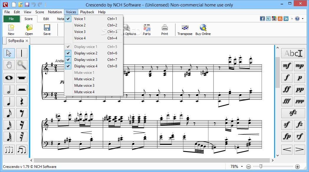 Download Crescendo Music Notation Editor 4 14 Beta