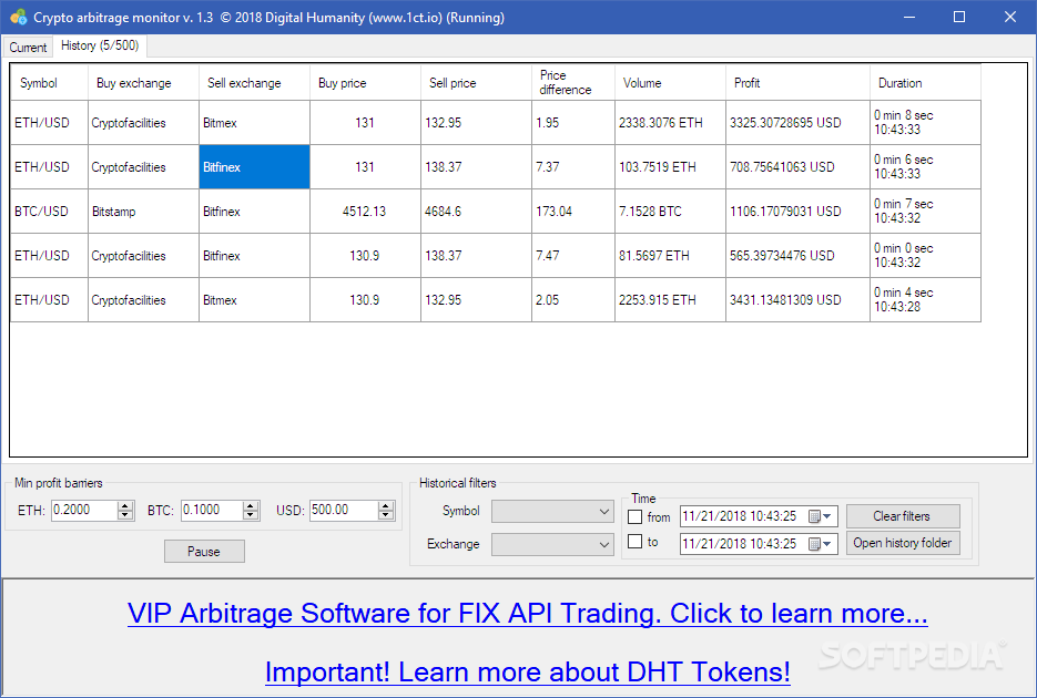 Download Crypto Arbitrage Monitor 1 5