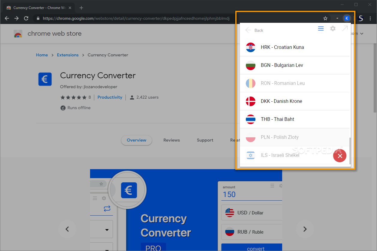 Currency Converter Chrome Store {Eddie Cheever}