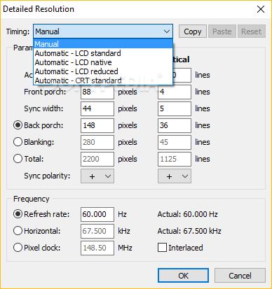 Download Custom Resolution Utility - CRU 1 4 1