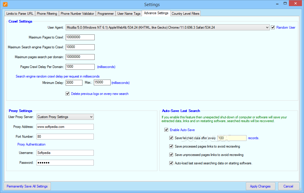 Download Cute Web Phone Number Extractor Advance 2.8.94