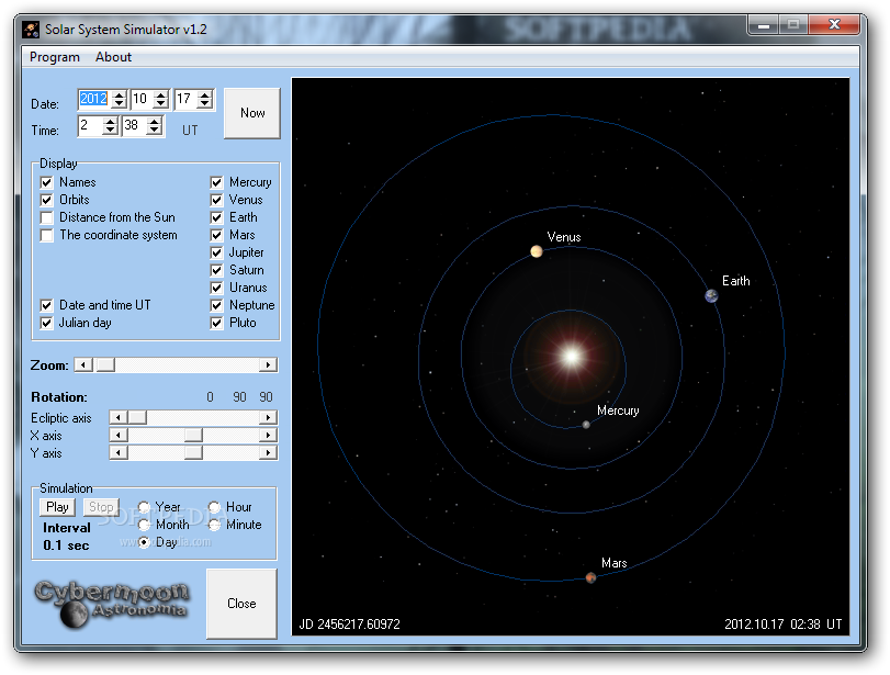Simulator Solar System with Moons - Pics about space