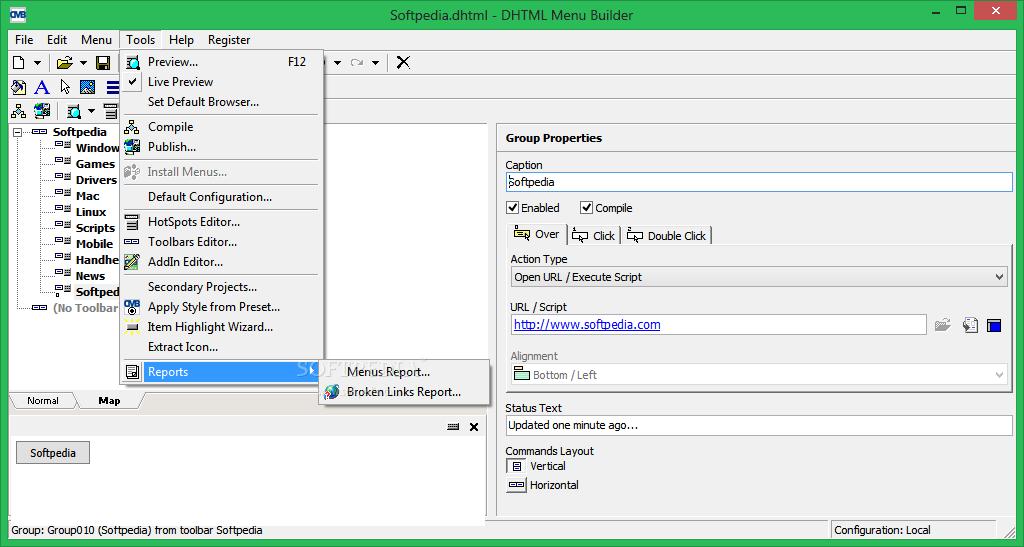 Download DHTML Menu Builder 4 20 034