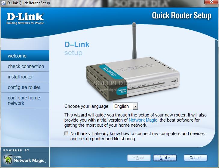 Dlink di-524 screenshot time settings.