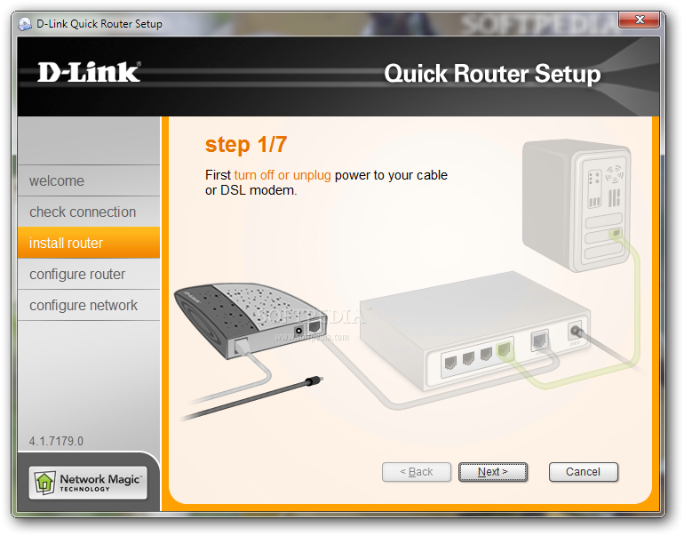 how to connect dlink router to pc