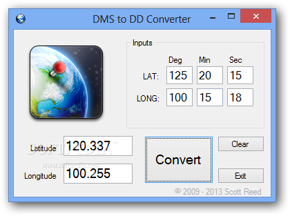 Download DMS to DD Converter 1 0 0