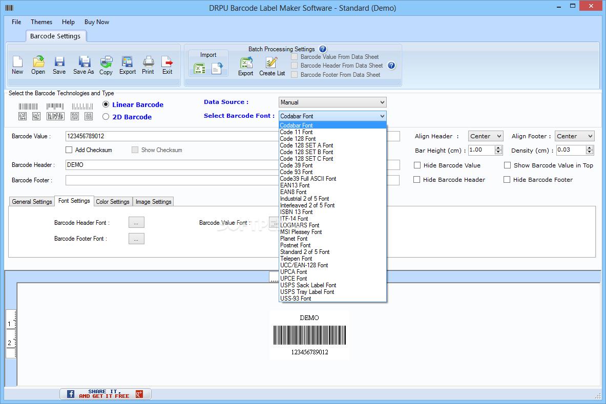 drpu barcode label maker software free download