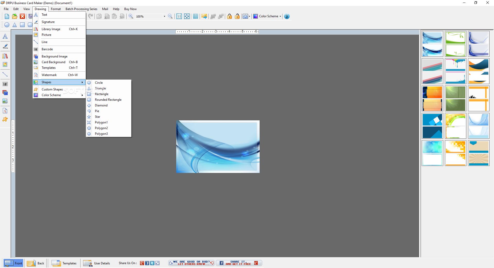 Download DRPU Business Card Maker Software 8301