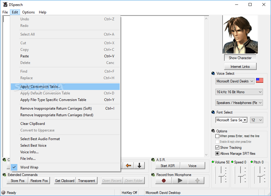 how to turn off text to speech windows 8