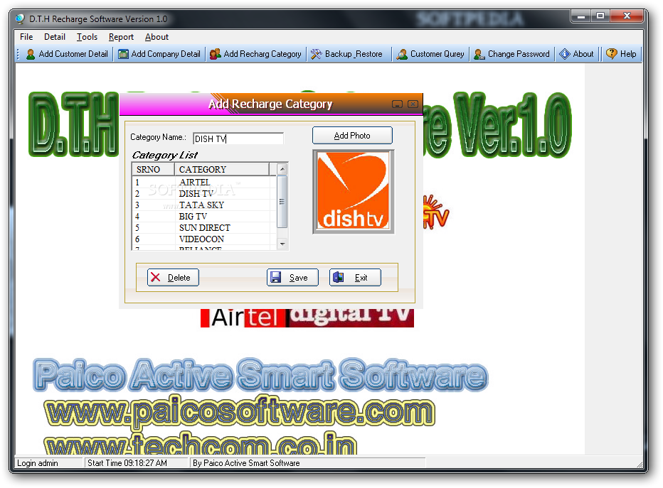 Download D T H Recharge Software 1 0 0