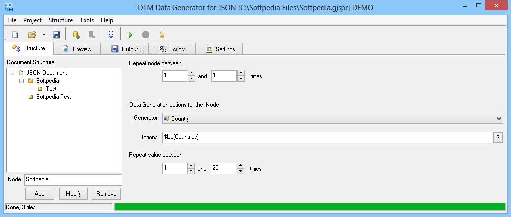 Download DTM Data Generator for JSON 2 01 00