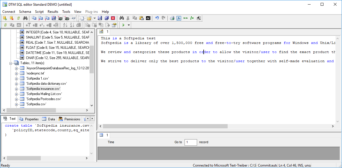 Download DTM SQL Editor Standard 2 05 07