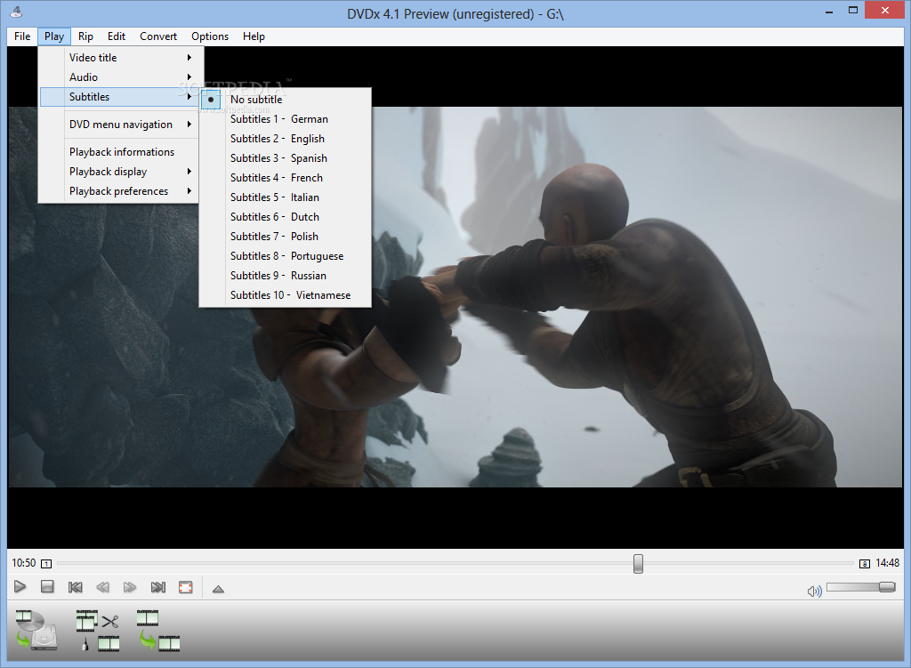 how to add subtitle in lenovo powerdvd