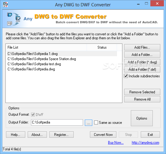 Easily convert your DWF files to DWG format