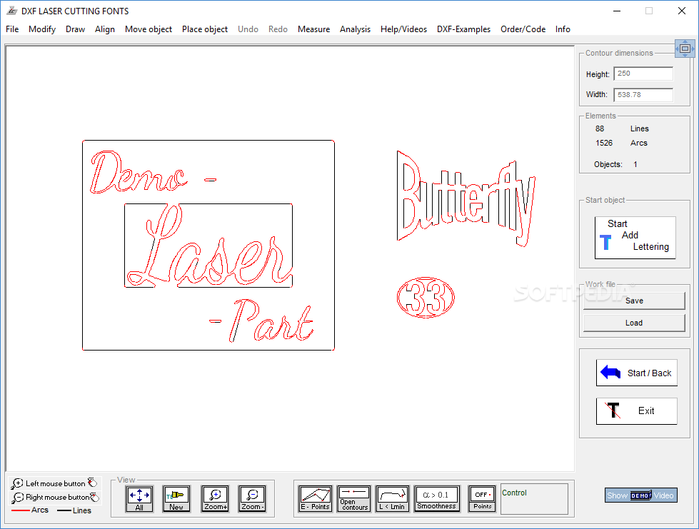 Download DXF LASER CUTTING FONTS 5 1