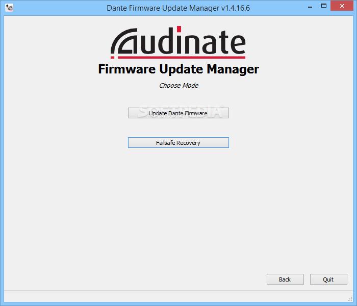 dante firmware update manager v3 10.6 2