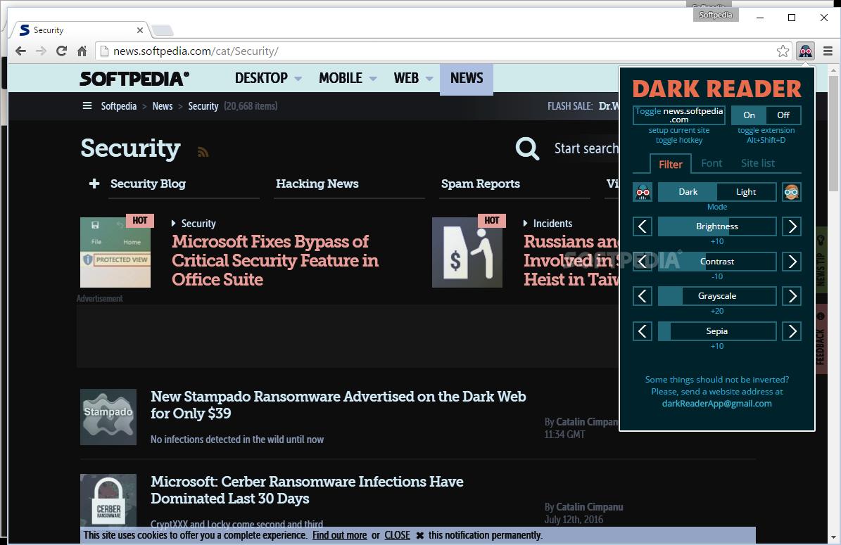 Download Dark Reader for Chrome 4 7 14