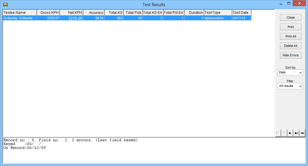 Download Data Entry Test 2009 5 5 1