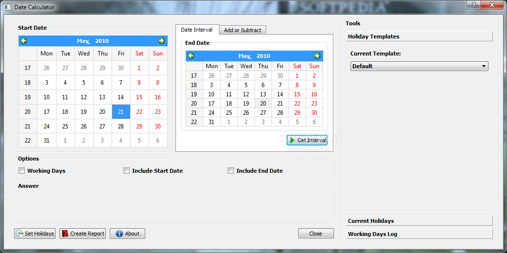 Download Date Calculator 1 0