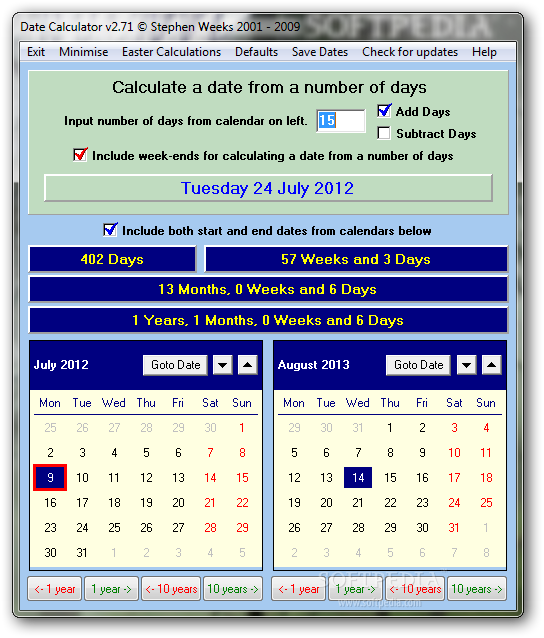 Date Duration Calculator: Days Between Dates