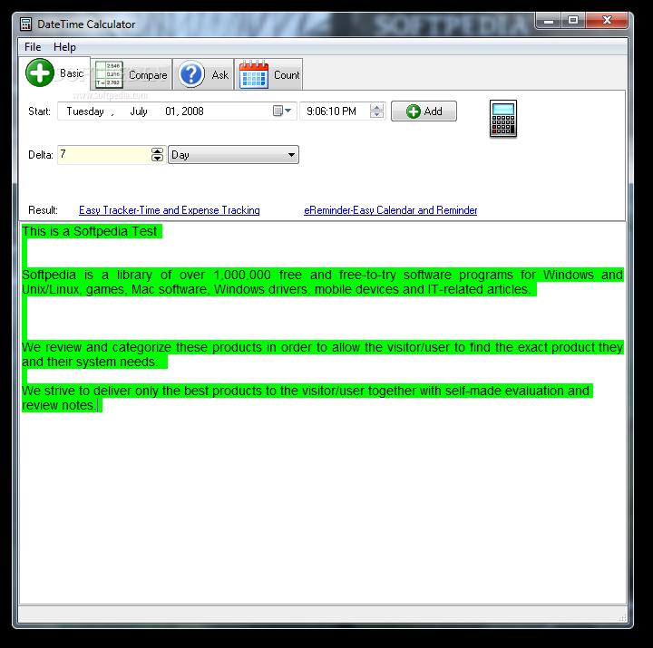 Download DateTime Calculator 7 0 Build 0 331