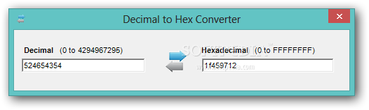 Download Decimal to Hex Converter 1 1