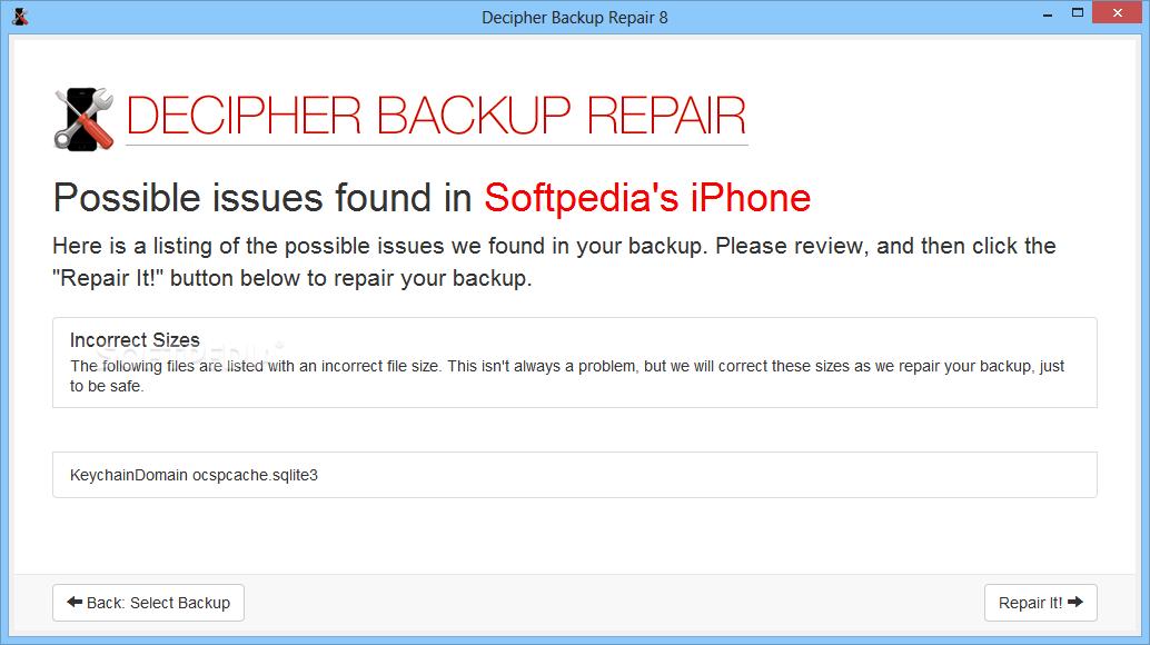 Decipher Backup Repair Keygen 100 - erungazmatt : Inspired