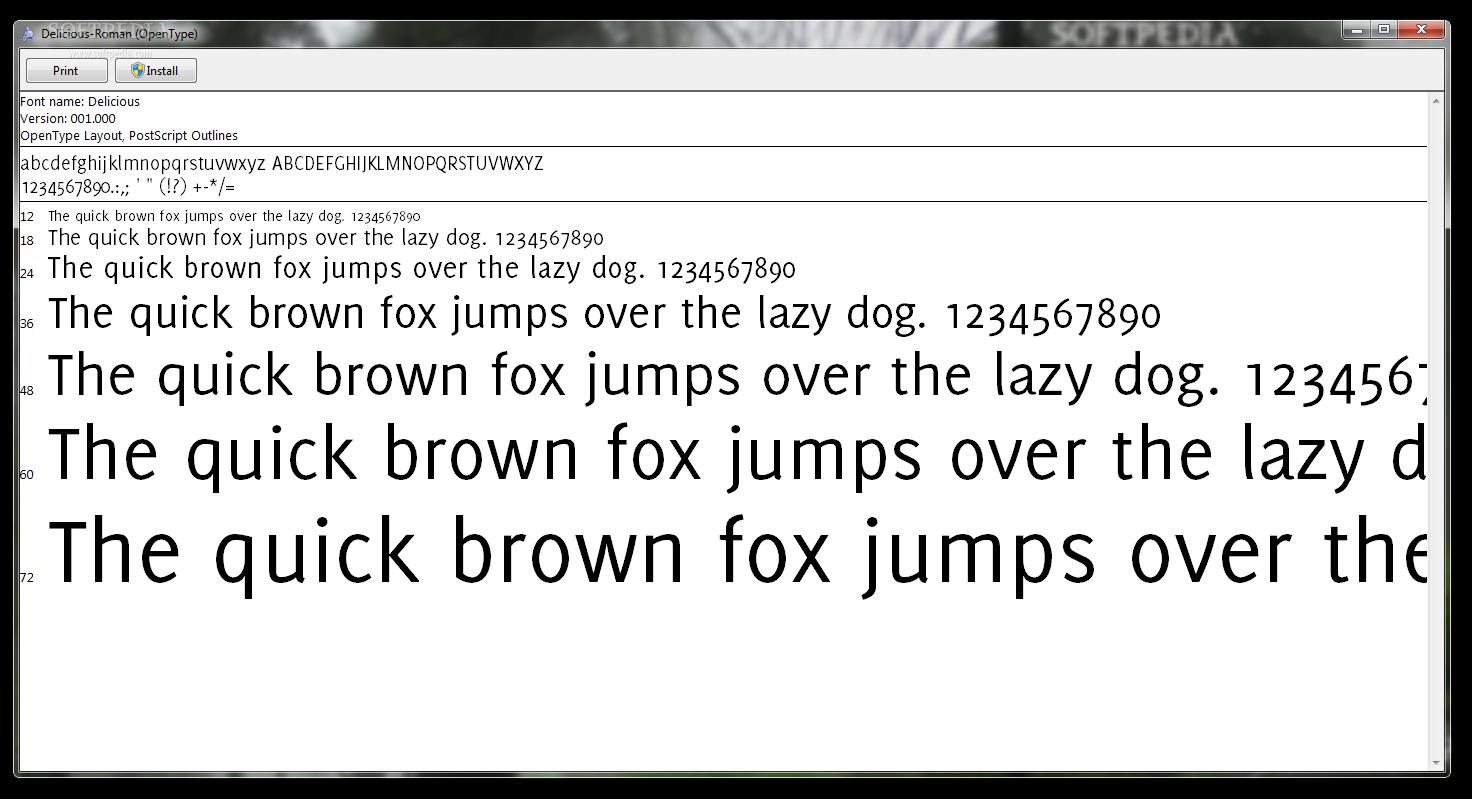 Download free delicious roman font | dafontfree. Net.