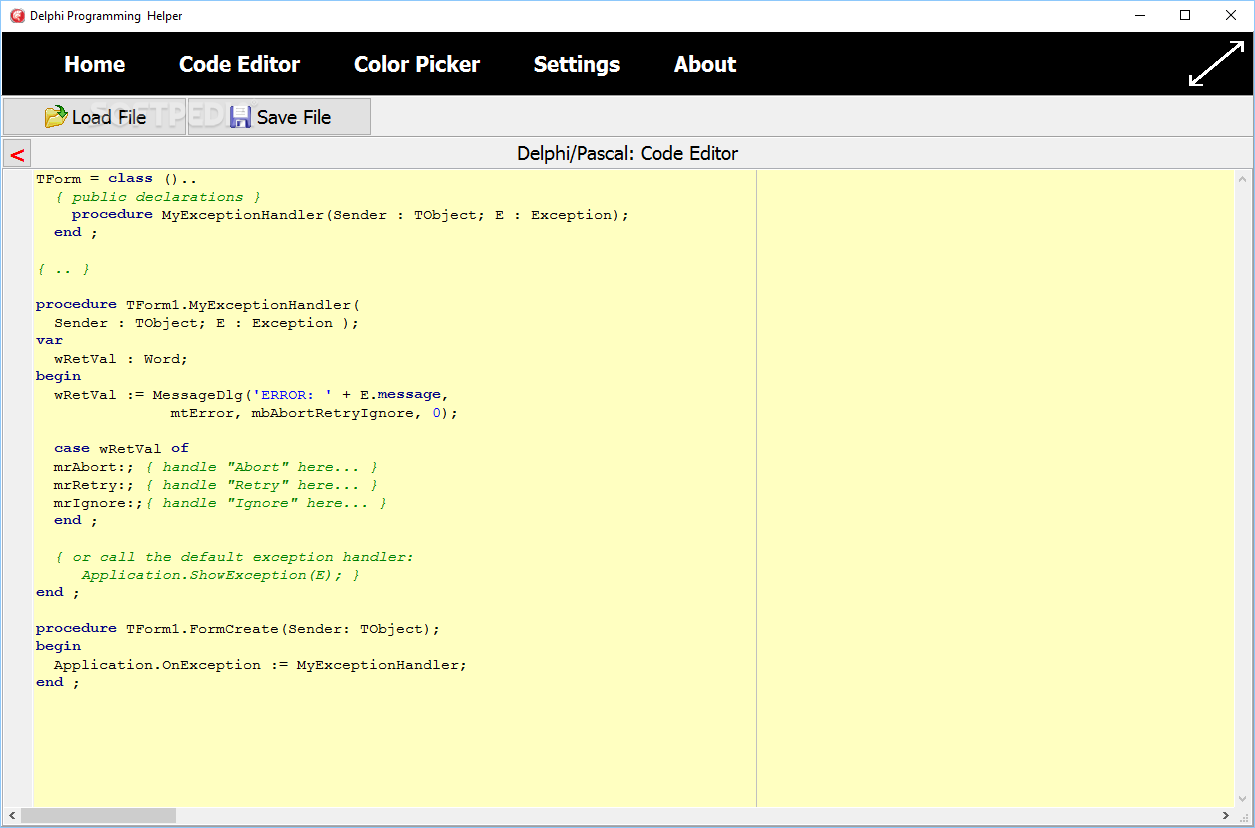 Delphi Programming Helper - Screenshot