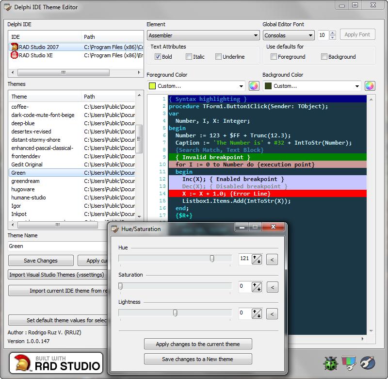 Windows Xp Theme File Software: Download Delphi IDE Theme Editor 1.0.0.246