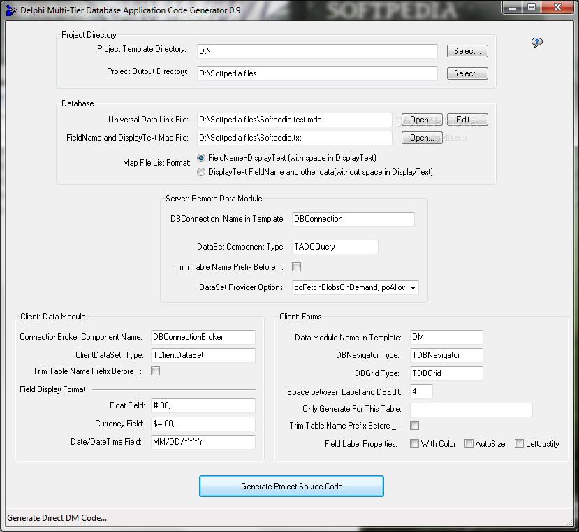 download delphi multi tier database application code generator 0 9 beta rh softpedia com Cornell Notes Example Pascal Programming Language