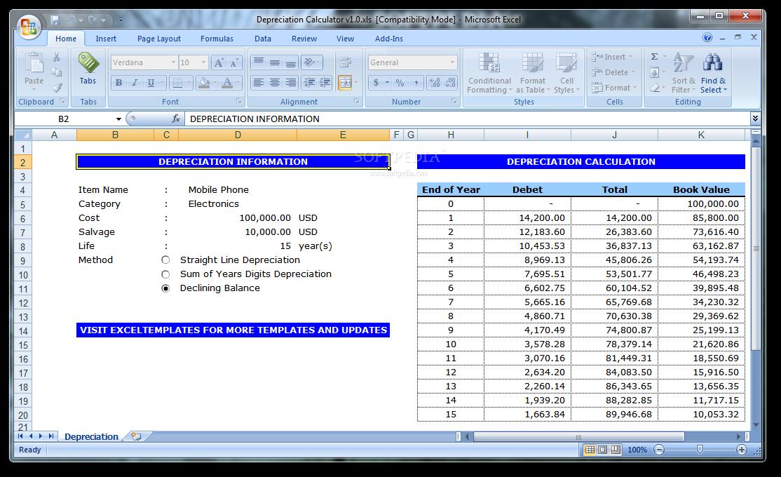 download depreciation calculator 1 0