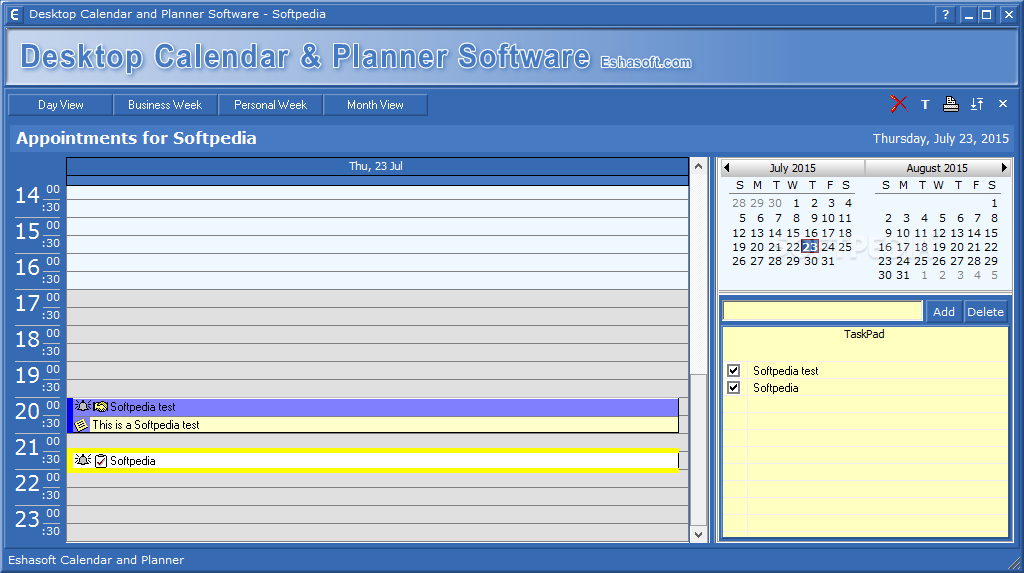 Weekly Calendar Desktop : Download desktop calendar and planner software