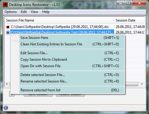 Download Desktop Icons Restorator 1.02 Desktop Icons Restorator - Desktop Icons Restorator is a handy utility  designed to save and restore ...
