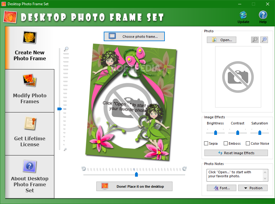 Desktop Photo Frame Set This Is The Main Window Of